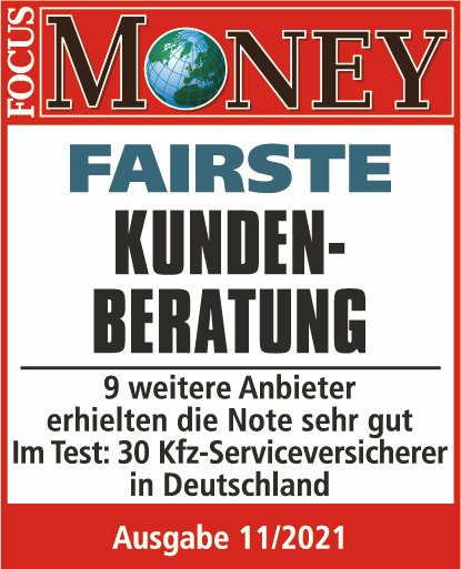 Qualitätssiegel Focus Money - Fairste Kundenkommunikation