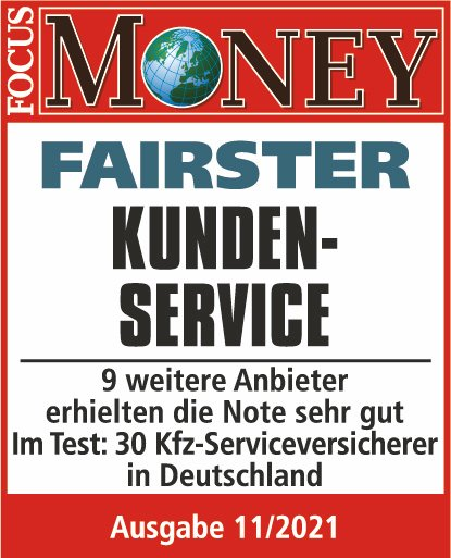 Qualitätssiegel Focus Money - Fairster Kundenservice