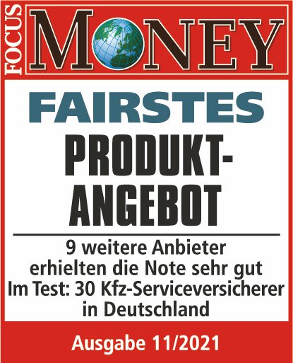 Qualitätssiegel Focus Money - Fairstes Produktangebot